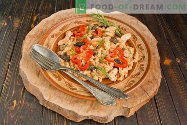 Pâine de pui și ciuperci - clasice accesibile pentru bucătăria italiană