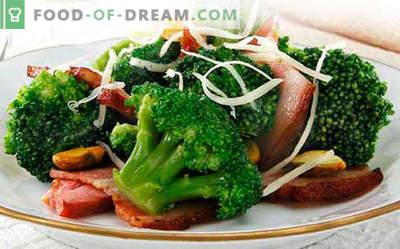 Salată de broccoli - cele mai bune cinci rețete. Cum să salată de broccoli gătită corect și gustos.