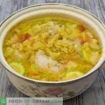 Supa de pui cu legume și paste