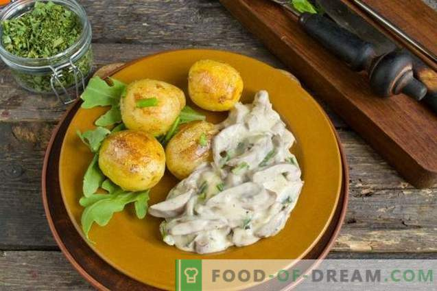 Nerki wieprzowe w śmietanie z cebulą i ziemniakami