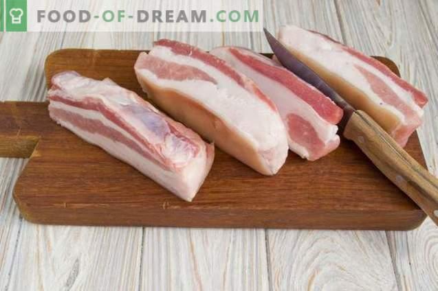 burta de porc sarata intr-un pachet