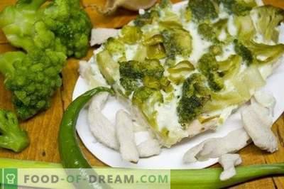 Caserola cu broccoli și file de pui