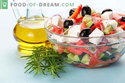 Salate cu ulei de măsline - o selecție a celor mai bune rețete. Cum să preparăm în mod corespunzător și delicios salatele cu ulei de măsline.