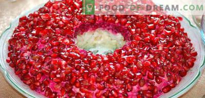 Salad Garnet bracelet and 7 options for its preparation