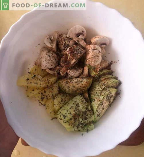 Kipfilet in een romige kaassaus met groenten - recept met foto