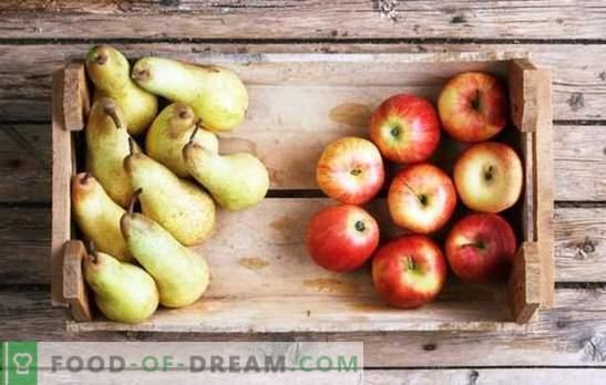 Compote de mere și pere pentru iarnă: componentele gustului. Compot preferat de mere și pere pentru iarnă în rețete fără complicații