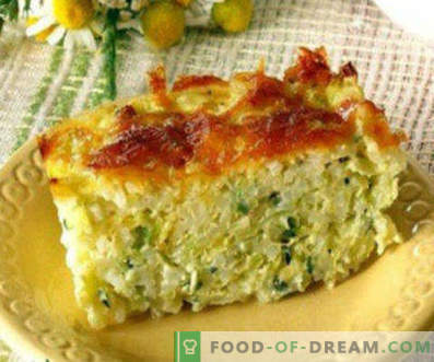 Rețete pentru gătit dovlecei în cuptor, umplute, cu legume, caserole, bărci