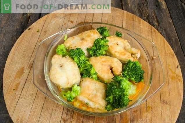 Pollack delicios cu legume în cuptor
