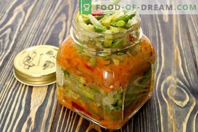 Layered vegetable salad for the winter
