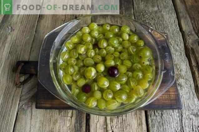 Confettura di uva spina per l'inverno
