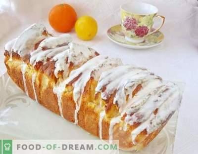 Pâine de citrice cu glazură cremă de lamaie
