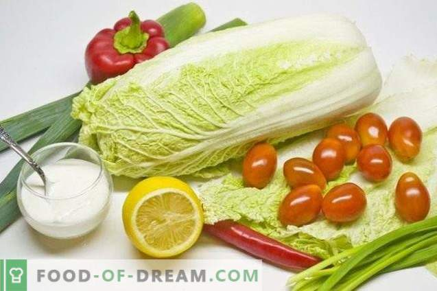Salată de legume cu pansament de ceapă de lămâie