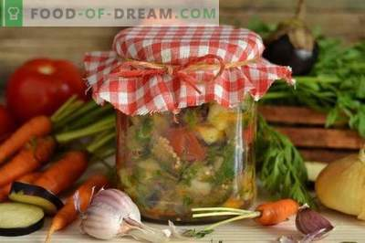 Eggplant salad for the winter without sterilization
