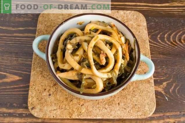 Squids coreeană - delicioasă salată de fructe de mare
