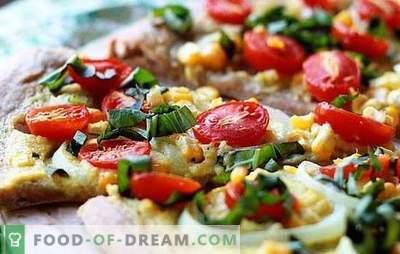 Pizza fără brânză - și acest lucru se întâmplă! Rețete de diferite pizza fără brânză de la fast, drojdie, patiserie