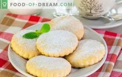 Biscuiți cu smântână - prăjituri de casă parfumate. Cele mai bune retete pentru biscuiti cu smantana: clasic, cu seminte de mac, banane, branza de vaci