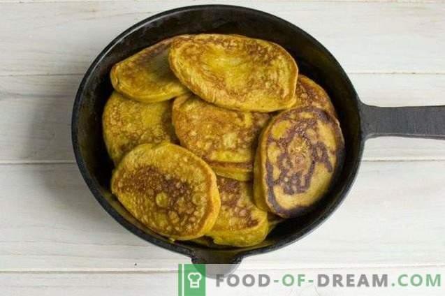 Pfannkuchen mit Kürbis und Äpfeln