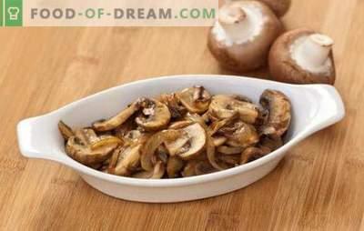 Ciuperci prăjite cu ceapă - simple și gustoase, rapide și frumoase! O selecție de rețete populare de ciuperci prăjite cu ceapă