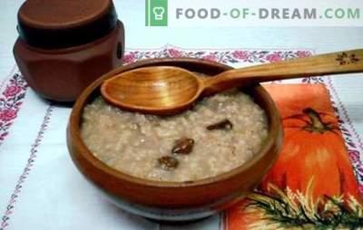 Gătiți terci de orz pe apă - un mic dejun sănătos în douăzeci de minute. Cum să gătești turtă de orz pe apă și lapte?