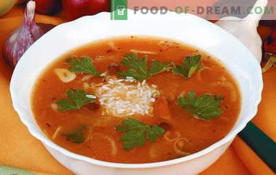 Drepturi de autor, retete dovedite de kharcho cu orez. Ce ingrediente sunt potrivite pentru a face delicioase kharcho cu orez?