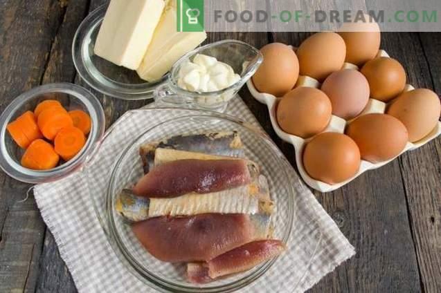 Œufs fourrés au hareng et au fromage fondu