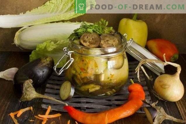 Platou de legume cu ardei umpluți cu vinete pentru iarnă