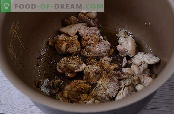 Pui gătit cu ciuperci: gătiți coapsele parfumate pentru vacanță și în fiecare zi. Reteta foto-reteta pas cu pas pentru gatirea puiului cu ciuperci in smantana