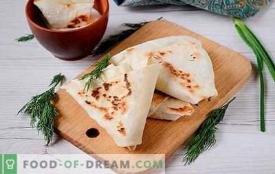 Aperitive din brânză de vaci și pita cu usturoi și verdeață - doar întrebați pe masă! Photo-rețetă pas cu pas gătit gustare picantă de pita și brânză
