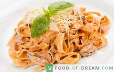 Testenine z morskimi sadeži v kremni omaki - občutek Italije! Dokazane testenine s morskimi sadeži v smetanovi omaki