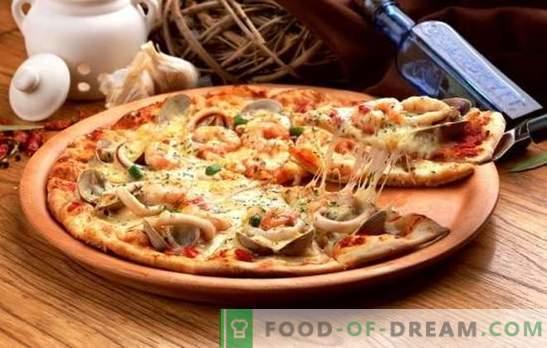 Cum să gătești rapid pizza la domiciliu - rețete populare. Secretele și sfaturi despre cum să gătești rapid pizza la domiciliu