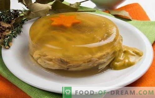Friptura de pui - cele mai bune retete. Cum să gătești în mod corespunzător și delicios jeleu cu pui.