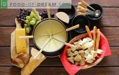 Fondue - cele mai bune rețete, alegerea felurilor de mâncare fondue, caracteristici de gătit