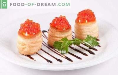 Tartleturi cu caviar - o gustare binevenită! Rețete de tartule elegante și delicioase cu caviar și alte adaosuri