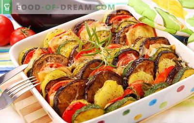 Se amestecă legumele în cuptor - aromă și gust și mai mult. Cele mai bune retete pentru gătitul de legume de legume în cuptor: clasic și modern