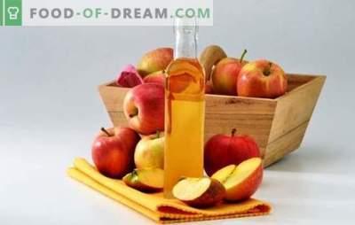 Oțet de cidru de mere: cum să gătesc în mod corespunzător. Secretele de otet de gătit din mere la domiciliu