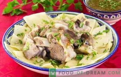 Beshbarmak from pork - recipes for tasty dishes of Turkic-speaking peoples. How to cook beshbarmak from pork?