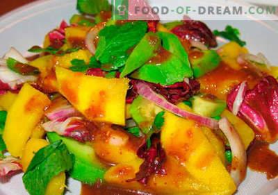 Salata de mango - cele mai bune retete. Cum să salam bine și gustos gătit cu mango
