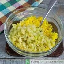 Salată de ficat simplă și gustoasă cu orez auriu