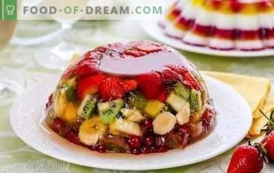 Jelul cu fructe este un tratament ușor și colorat. Retete originale de fructe, lapte, smantana cu fructe
