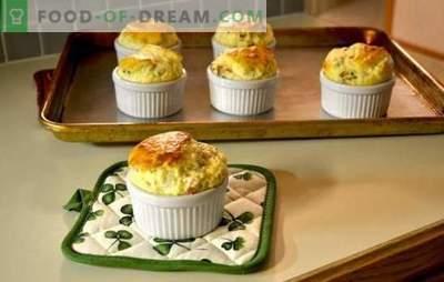Soufflé de brânză este un miracol pe o farfurie! O selecție de rețete pentru sufle de brânză obișnuită, cu pui, legume și de la Gordon Ramsay