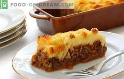 Kartoffelauflauf mit Fleisch im Ofen - füttern Sie alle! Kochen von leckeren und verschiedenen Kartoffelaufläufen mit Fleisch im Ofen