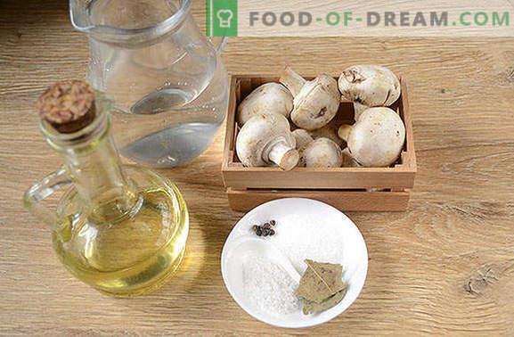 Șampițe instant marinate: secretul marinadei de oțet. Reteta foto a preparării pas cu pas a cartofilor murate