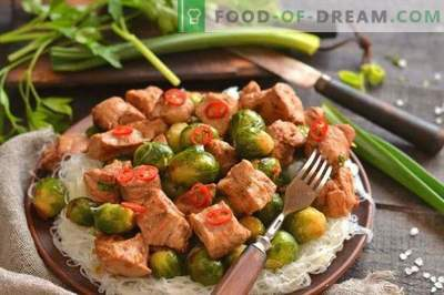Pork with Brussels Sprouts in Chinese