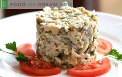 Vištienos ir kumpio salotos - geriausi įrodymai. Skanios salotos su vištiena ir kumpiu: pridėti grybų, ananasų ar riešutų?