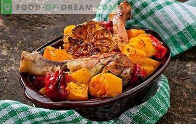 Chicken with pumpkin in the oven - the autumn dish number one! Chicken with pumpkin in the oven with spices, apples, oranges, mushrooms