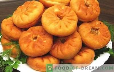 Belyashi cu carne într-un prăjit pan-leaky! Rețete de diferite albe cu carne într-o tigaie: drojdie și chefir