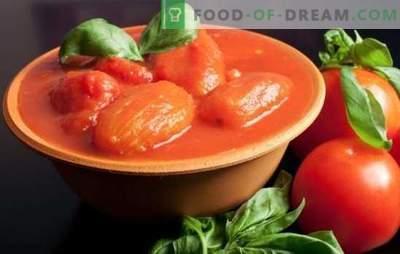 Tomate în suc propriu pentru iarna: ca turnat ca și devine de neegalat! Rețete de roșii în suc propriu pentru iarna