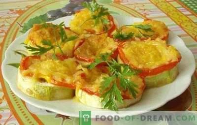Rețete rapide pentru feluri de mâncare de legume pentru cuptor: dovlecei cu roșii și nu numai! Recomandări rapide pentru dovlecel și roșii în cuptor