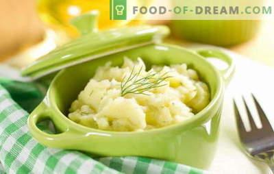 Un simplu și versatil garnitură - piure de cartofi cu lapte. Piure de cartofi cu lapte, ca o farfurie independentă