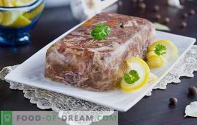 Cele mai bune și dovedite rețete de aspic din carne de porc și carne de vită. Secretele de gătit delicioase de jeleu din carne de porc cu carne de vită
